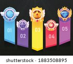 set of game ui rating badges...