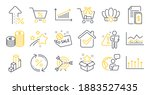 set of finance icons  such as...   Shutterstock .eps vector #1883527435