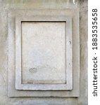 Blank vertical memorial plaque...
