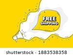 free shipping. loudspeaker...   Shutterstock .eps vector #1883538358
