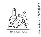 sweeping floor linear icon....   Shutterstock .eps vector #1883540992