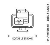 online medical history linear...   Shutterstock .eps vector #1883542015