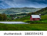Pasture Field Pond And Barn As...