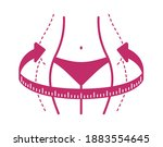 losing weight icon   diet ... | Shutterstock .eps vector #1883554645