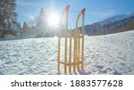 Lens Flare  Wooden Sled Is...
