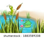 Pond With A Frog And A...