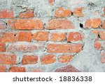 brick wall great as a background - stock photo