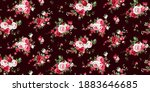 seamless pattern with vintage... | Shutterstock .eps vector #1883646685
