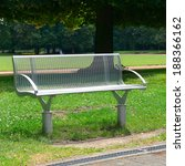 garden bench in the park        ... | Shutterstock . vector #188366162