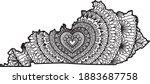 heart mandala inside kentucky... | Shutterstock .eps vector #1883687758
