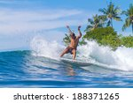 picture of surfing a wave. bali ... | Shutterstock . vector #188371265