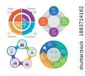 pie chart set. colorful diagram ...