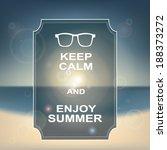 keep calm motivational poster... | Shutterstock .eps vector #188373272