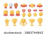 collection of golden  silver... | Shutterstock .eps vector #1883744842