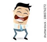 laughing cartoon businessman