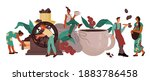 coffee drink producing and... | Shutterstock .eps vector #1883786458