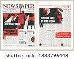 newspaper columns with...   Shutterstock .eps vector #1883796448