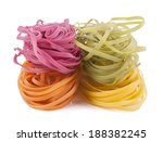 Dry Vegetable Pasta Isolated On ...