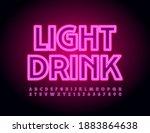 vector neon banner light drink. ... | Shutterstock .eps vector #1883864638