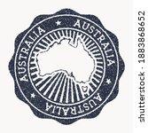australia stamp. travel rubber...   Shutterstock .eps vector #1883868652