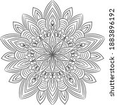 snowflake  coloring in a... | Shutterstock .eps vector #1883896192