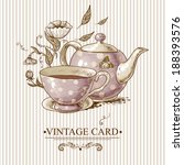 invitation vintage card with a...   Shutterstock .eps vector #188393576
