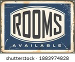 rooms available vintage hotel... | Shutterstock .eps vector #1883974828