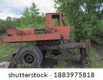 Old Skeleton Of A Truck Crane....