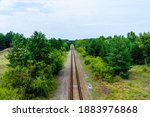 Old Railroad In The Forest On...