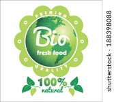 eco labels bio template.... | Shutterstock .eps vector #188398088