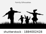 family silhouette. nature and...   Shutterstock .eps vector #1884002428