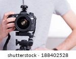 ready to shoot. close up of man ... | Shutterstock . vector #188402528