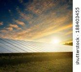solar panels under blue sky on... | Shutterstock . vector #188403455