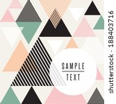 abstract triangle design with... | Shutterstock .eps vector #188403716