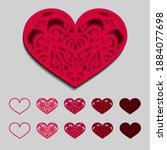valentine vector design element.... | Shutterstock .eps vector #1884077698