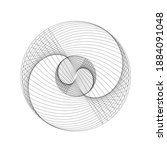 lines in circle form . spiral...   Shutterstock .eps vector #1884091048