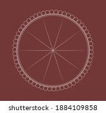 round frame with decorative... | Shutterstock .eps vector #1884109858