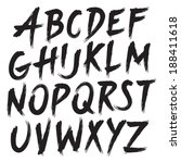 brush style hand draw font abc  | Shutterstock .eps vector #188411618