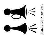 horn icon | Shutterstock .eps vector #188412995