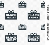 black friday gift sign icon.... | Shutterstock .eps vector #188414558