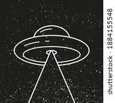 Ufo Space Ship Aliens Isolated...