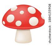 mushroom fruit emoji vector... | Shutterstock .eps vector #1884155908