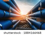 Stack Of Cast Iron Pipes For...