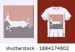 inverted silhouette of running... | Shutterstock .eps vector #1884174802