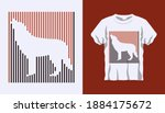 inverted silhouette of wolf... | Shutterstock .eps vector #1884175672