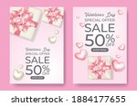 sale poster for valentine day....   Shutterstock .eps vector #1884177655