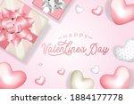 modern valentine day greeting...   Shutterstock .eps vector #1884177778