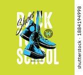 vector of shoes  back to school ...   Shutterstock .eps vector #1884194998