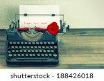 Vintage Typewriter With White...