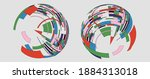 vector fashion colorful ribbons ...   Shutterstock .eps vector #1884313018
